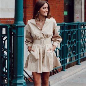 Zara belted dress bloggers favorite